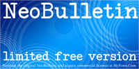 NeoBulletin Limited Free Versio font by Intellecta Design