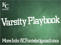 Varsity Playbook font by KC Fonts