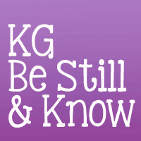 KG Be Still & Know font by Kimberly Geswein
