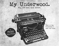 My Underwood font by Tension Type