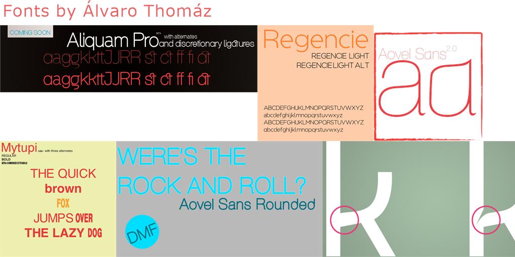 Álvaro Thomáz - 22 free fonts - FontSpace
