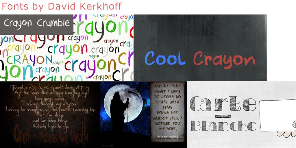 David Kerkhoff 471 Free Fonts Fontspace