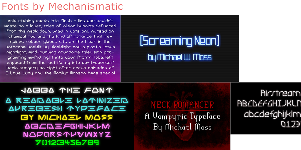 Mechanismatic - 8 free fonts - FontSpace