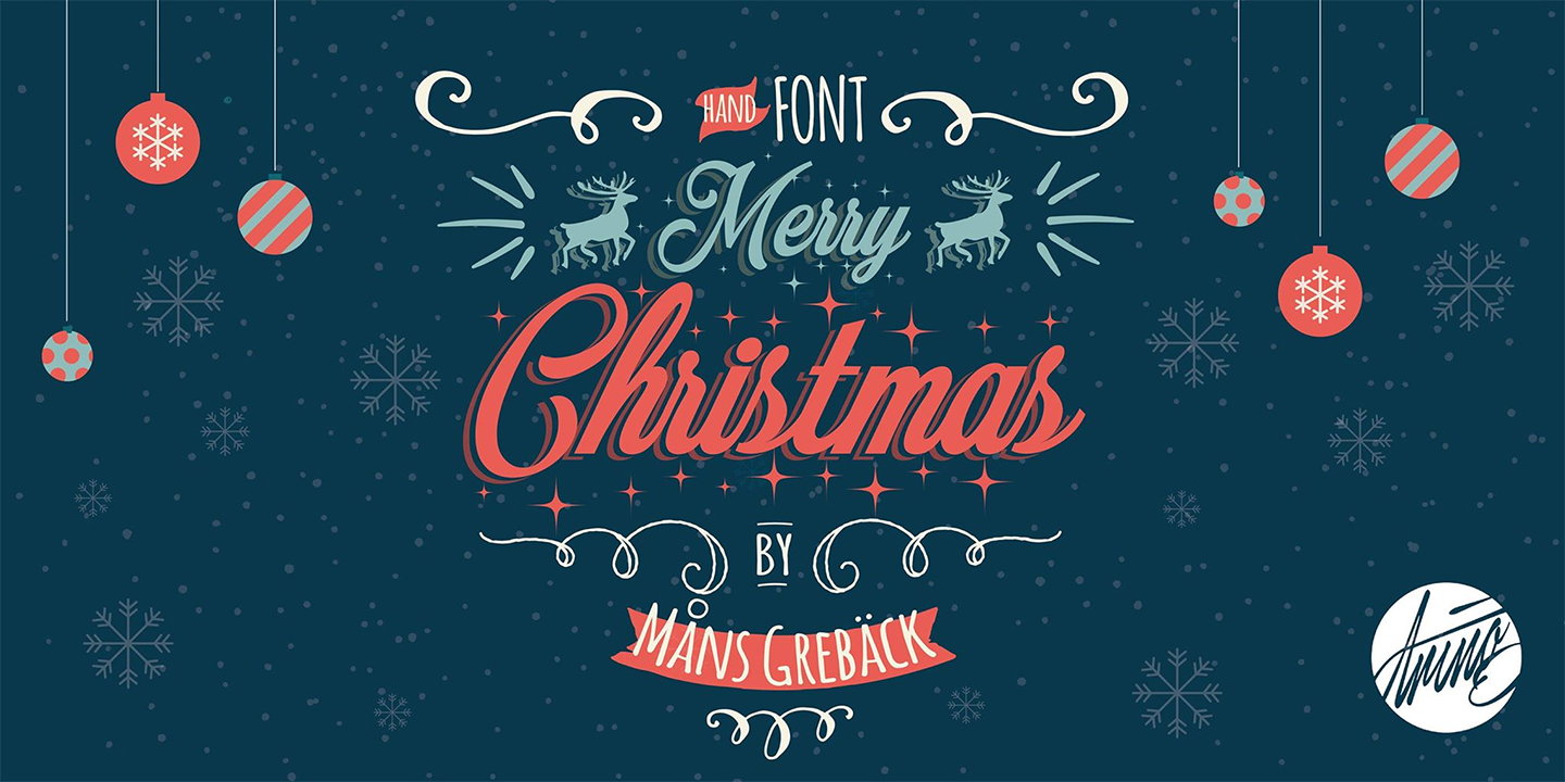 Merry Christmas Fonts Images.Merry Christmas Font Family 2 Styles By Mans Greback