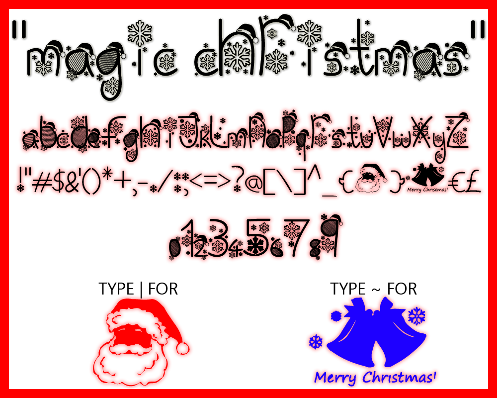 Merry Christmas Fonts Images.Magic Christmas Font Designed By Magic Fonts