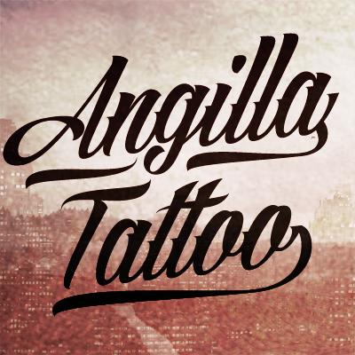 Angilla Tattoo Personal Use Font Designed By Mans Greback
