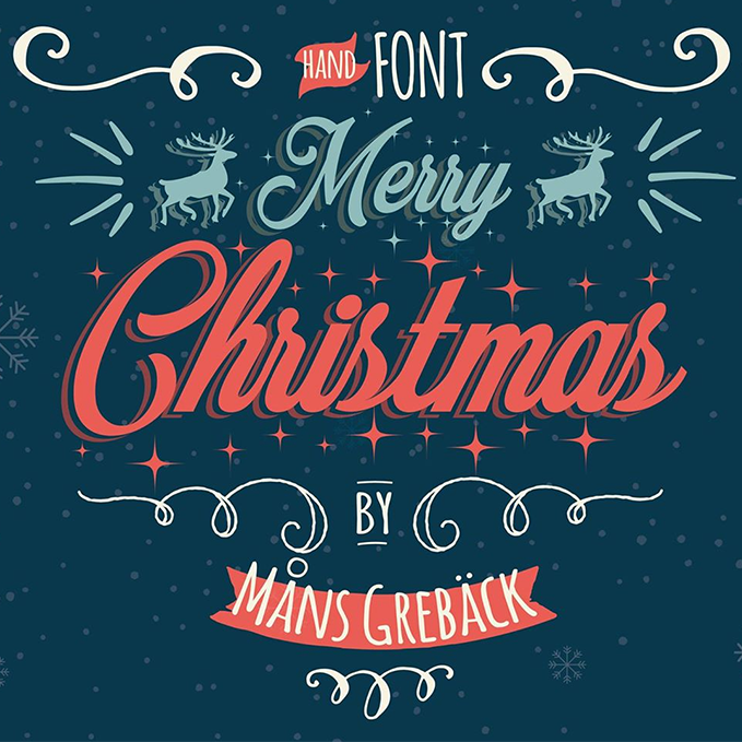 Christmas Images Free.Merry Christmas Font Family 2 Styles By Mans Greback