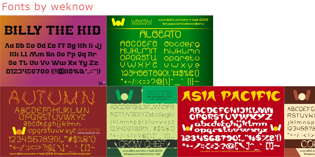 Weknow - 781 free fonts - FontSpace